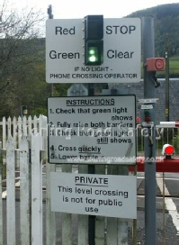 Level Crossing Confusing Signals