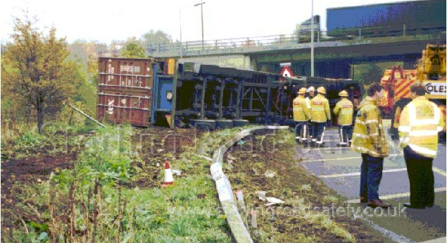 Lorry Rollover Motorway Accident